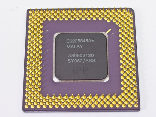 Intel SY062 P1 120Mhz Processor - A80502120 - Gold Pins - TESTED BOOT to BIOS