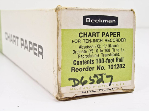 Beckman 101282 100 Ft Roll Chart Paper for 10-inch Recorder