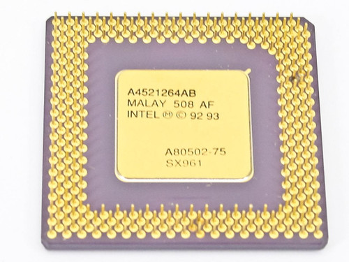 Intel Pentium 75 Mhz Processor Gold Faced A80502-75 (SX961)