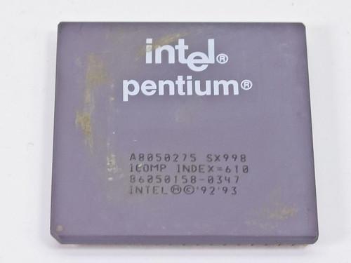 Intel Pentium P1 75 Mhz Processor A8050275 SX998