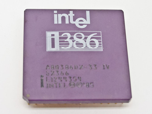 Intel SX366 i386 CPU A80386DX-33