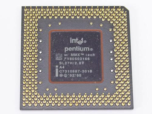 Intel SL27H P1 166Mhz MMX CPU Socket 7 FV80503166 - Pentium I Processor