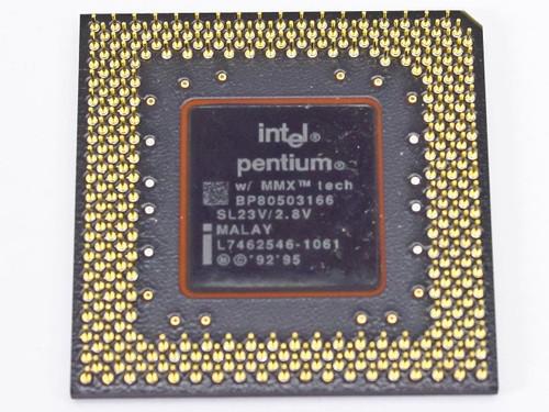 Intel P1 166Mhz MMX CPU FV80503166 (SL23V)