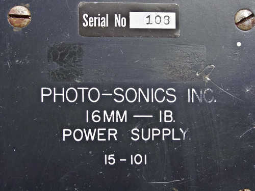 Photo Sonics Inc. Power Supply 16mm-1B