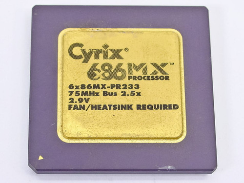 Cyrix 6x86MX-PR233 686 233MHz Gold Faced CPU with 75MHz FSB
