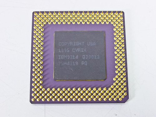 IBM IBM9314 120MHz CYRIX IBM26 6X86 P150+ CPU Processor with GOLD Fingers