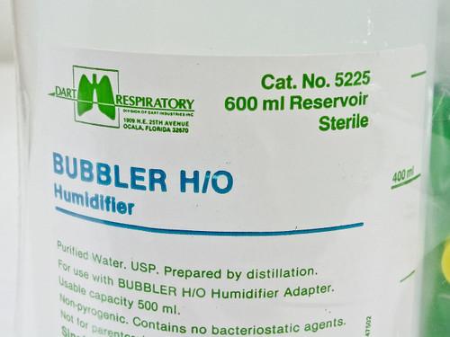 Dart Respiratory Lot of 9 - Bubbler H/O Humidifier 600ml Reservoir  5225