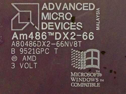 AMD  486 DX2 66Mhz Processor A80486DX2-66NV8T
