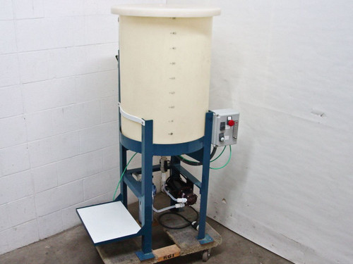 """Ryan Herco 50 Gal Conical Drum w 24"""" Stand, Magnetic Pump, Water Filter Housing"""