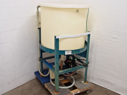 Ryan Herco 100 Gallon Conical Drum with Stand and Magnetic Pump - As Is