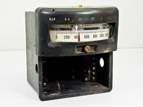 Wheelco Model 402 VINTAGE 0~1200°C Analog Temperature Meter / Gauge - As Is