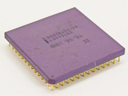 Intel A80386DX-20 20MHz CPU 386 Processor 32-BIT 5V - GOLD Pins