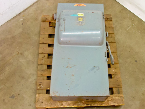 Square D H365 400 Amp 3 Phase Single Throw Fusible Safety Switch Bad Lug - AS IS