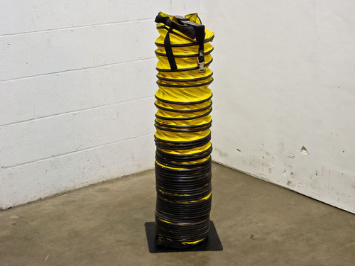 "Unbranded Flexible Exhaust Duct 6""~9"" Diameter by 15' Long with Storage Stand"