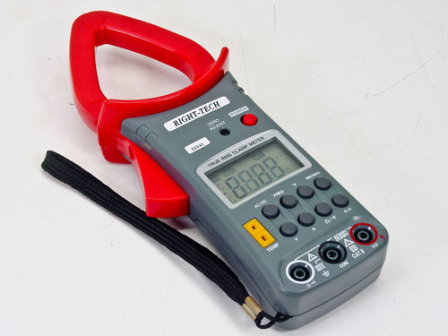 Right-Tech 53341 True Rms Clamp Meter AC/DC Current to 600A, 3-3/4 Digit LCD