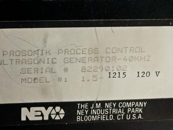 Ney Ultrasonics proSONIK Ultrasonic Generator 40KH -READ DETAILS (1.5-1215 120V)