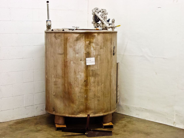 Stainless Steel Tank with SanPIPER II Air Pump & Inferno Gauge 350 Gallon