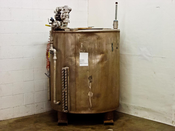Stainless Steel 350 Gallon Tank with Standard 55-Gallon Drum Lid - As Is