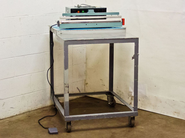 "AIE AIE-605A1 24"" Automatic/Manual Single Impulse Heat Sealer with Table"