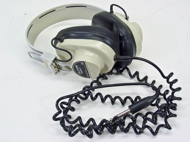 """Califone Deluxe Mono Headphones / Headset 1/8"""" Jack with Curly Cable (2924AV-P)"""