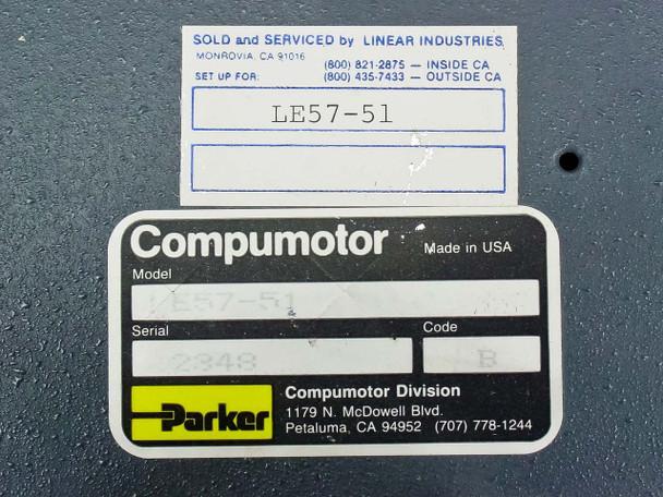 Parker Compumotor LE Series Index Motor Drive 115 Volt (LE57-51)