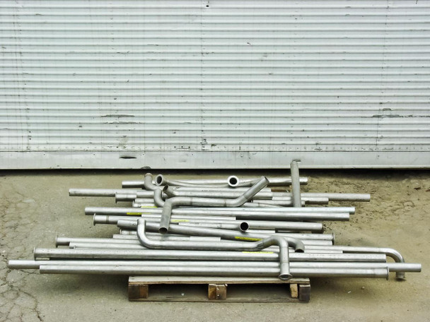 "Stainless Steel DN50KF Tubing - LOT OF 135 Ft - ID: 47mm (1.85"") OD: 51mm (2"")"
