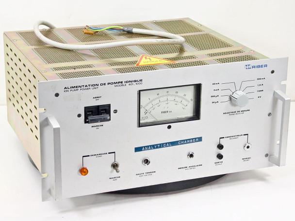 Riber 40I I000 Ion Pump Power Supply for Molecular Beam Epitaxy Growth Chamber