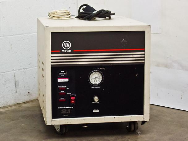 Varian 323-0012 Cryocompressor 2.1 High Vacuum Cryo Pump 208 VAC Phase-1 - As Is