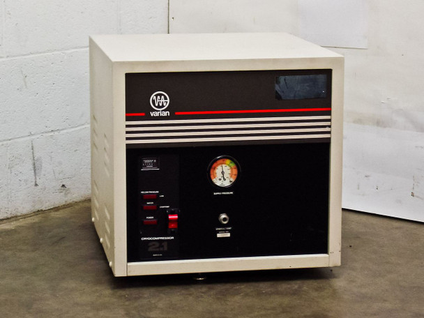 Varian 323-0014 Helium Cryo Compressor 2.1 with Adsorber - 208 Volt - As Is
