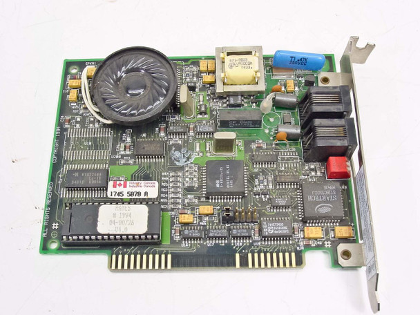 Hayes 8 Bit ISA Accura 144=Fax modem 04-00726 Vintage 1994 5302AM
