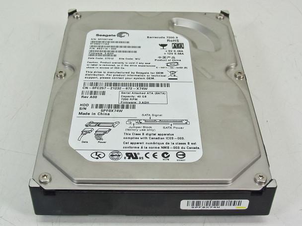 """Seagate 40GB 7200RPM SATA 3.5"""" 2MB Buffer Internal Hard Drive Dell FC257"""