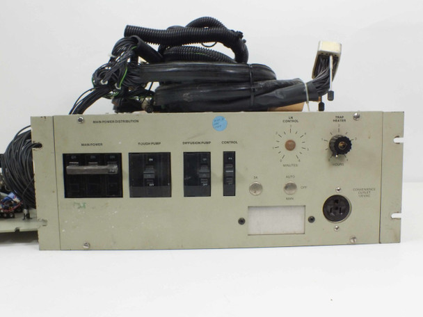 High Voltage Supply and Vacuum Pump Control Distribution Unit with Cables