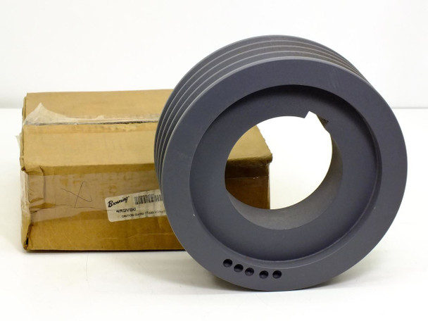 Browning 4R5V80 4-Groove Sheave / Bushing Bore V-Belt Pulley - New Open Box