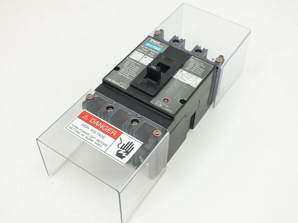 Fuji Electric BU-ESB3015 3-Pole Circuit Breaker 15 Amp 600 VAC