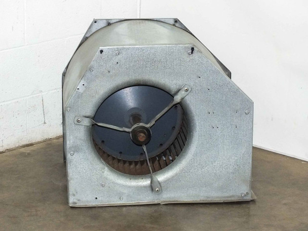 """Large 14"""" Squirrel Fan with Aluminum Housing and Pulley -NO MOTOR"""