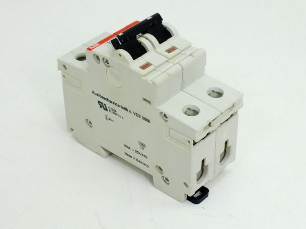 ABB S282-Z6 2-Pole Circuit Breaker 277/480 VAC 16 Amp Din-Rail Mount - Z6A S282