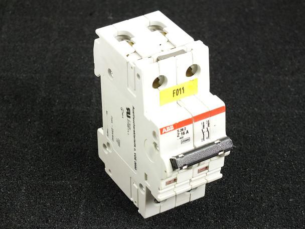 ABB S282-Z16 2-Pole Circuit Breaker 277/480 VAC 16Amp Din-Rail Mount - Z16A S282