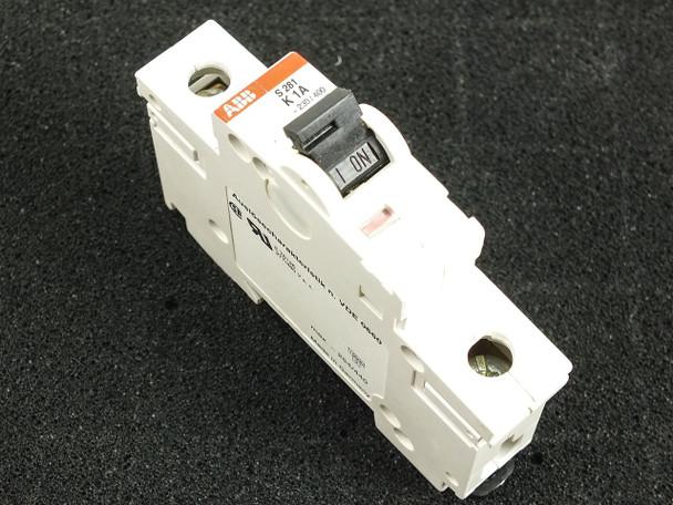 ABB K1A S281 480Y/277 VAC 10kA 1 Pole Circuit Breaker S281-K1W
