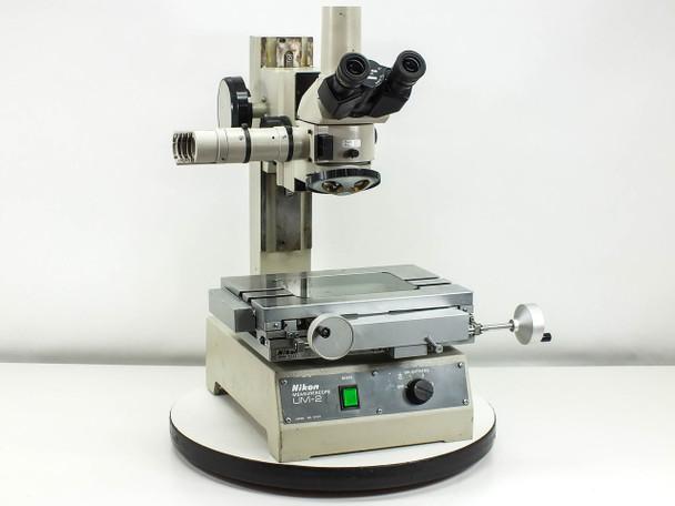 Nikon UM-2 Measurescope Microscope with Trinocular Head and 4 Slot Turret