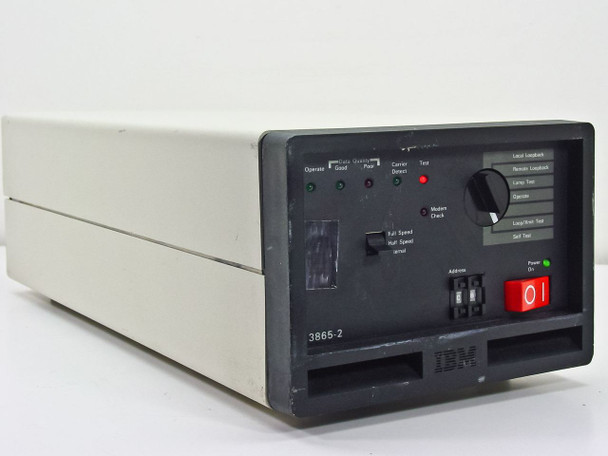 IBM 3865-2 Data Modem for Mainframe Terminal System - Cut Cord - As Is / Parts