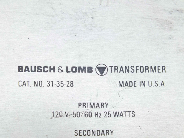 Bausch & Lomb 31-35-28 Microscope Light Source / Illuminator Transformer