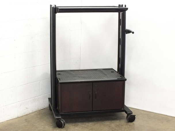 """Mobile AV Cart for CRT TV Presentations with Cabinets and 30.5"""" x 21"""" Surfaces"""