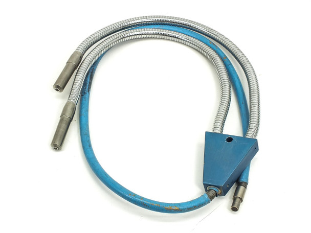 Fiber-Optic Microscope Light Source Flex Cable with Split / Dual Output