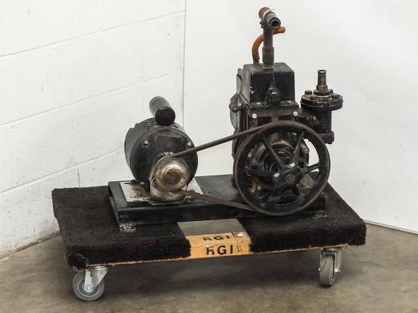 Central Scientific 93020 Cenco-Hypervac 25 Belt-Drive Vacuum Pump 3/4 HP - AS IS