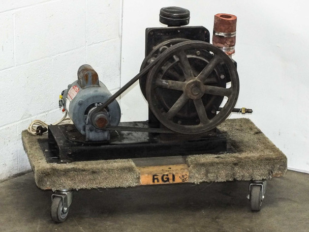 Welch Duo-Seal Belt-Drive Vacuum Pump with Dayton 3/4 HP 115/220 Volt-AC Motor