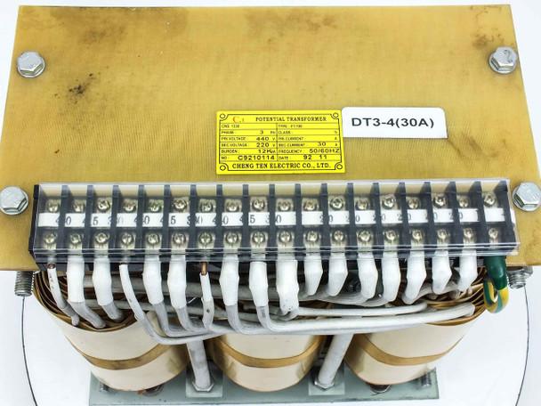 Name Brand 12 KVA CNS1330 Phase-3 PRI 440V SEC 220V 30A PT100