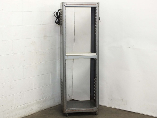 """Generic Gray 19"""" Rackmount Cabinet Chassis with Power Bar 22""""W x 18""""D x 69""""H"""