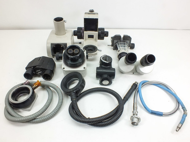 Microscope Lot Parts and Accessories - AS IS - Flex Lights Phototube Heads