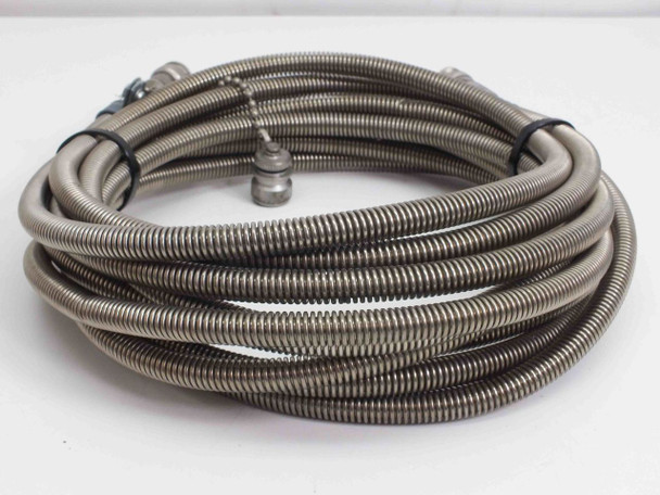 Huber Suhner Microwave RF / Coaxial Cable with Stainless Steel Housing 16.5'