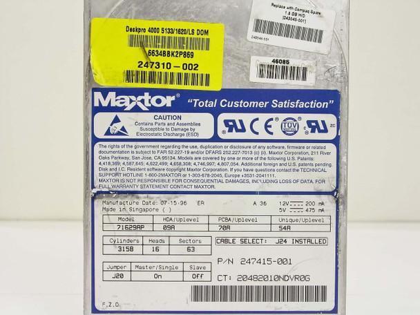 """Compaq 1.6GB 3.5"""" IDE Hard Drive - Maxtor 71629AP 243045-001"""